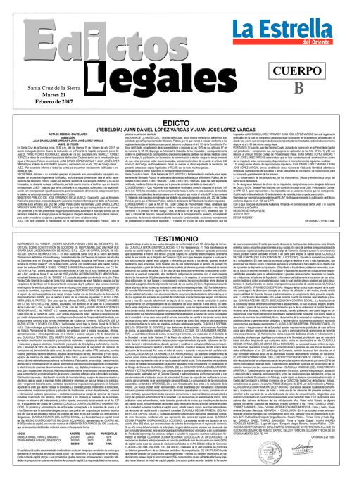 Judiciales 21 martes - febrero 2017