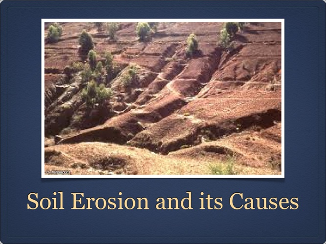 Soil Erosion- Divya Jyothi-9C