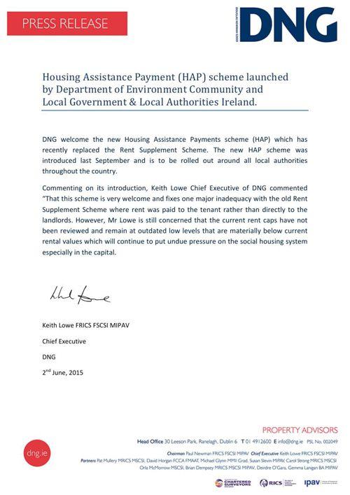 HAP - DNG Press Release