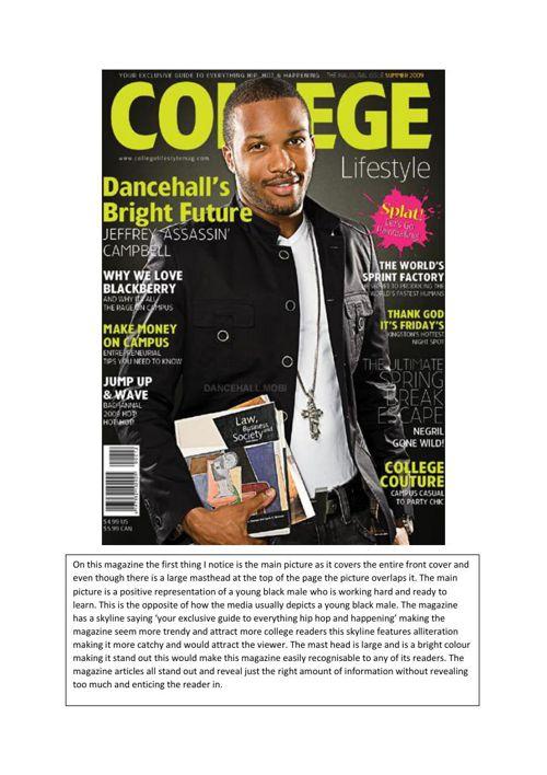 college magazine (LABEL E)