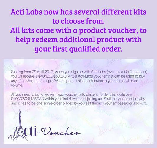 New Acti-Labs Ambassador Kits