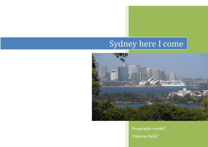 cuti-cuti Sydney 2014