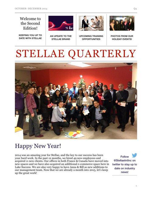 Stellae Quarterly Q4 2014