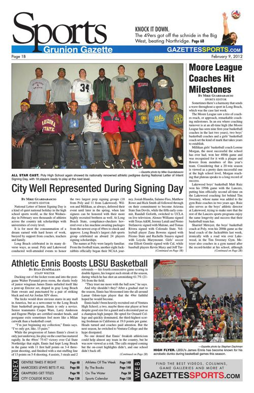 Gazette Sports | February 9, 2012