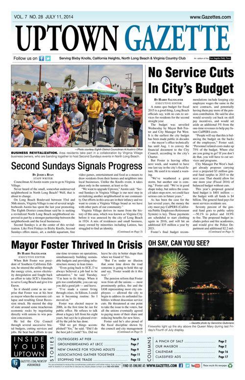 Uptown Gazette  |  July 11, 2014