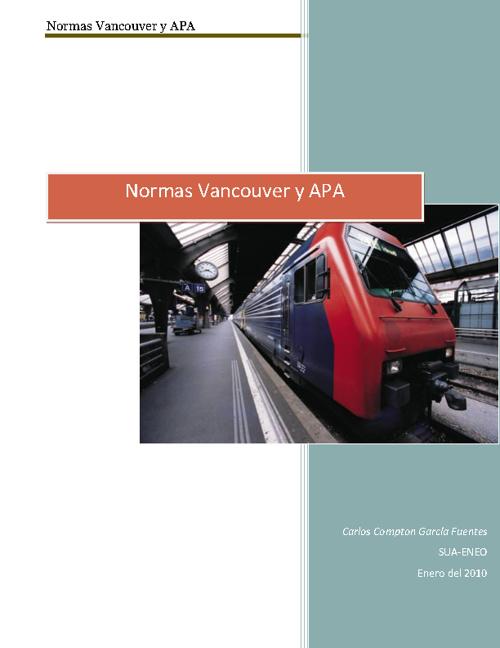 Normas Vancouver y APA