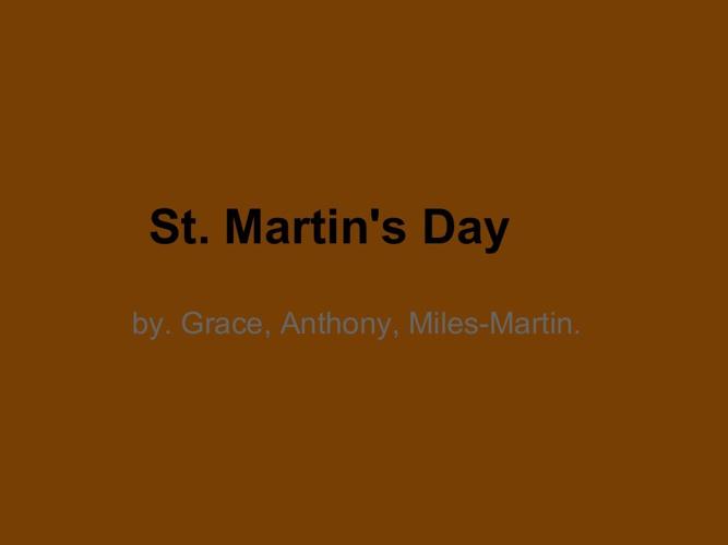 St. Martin's Day