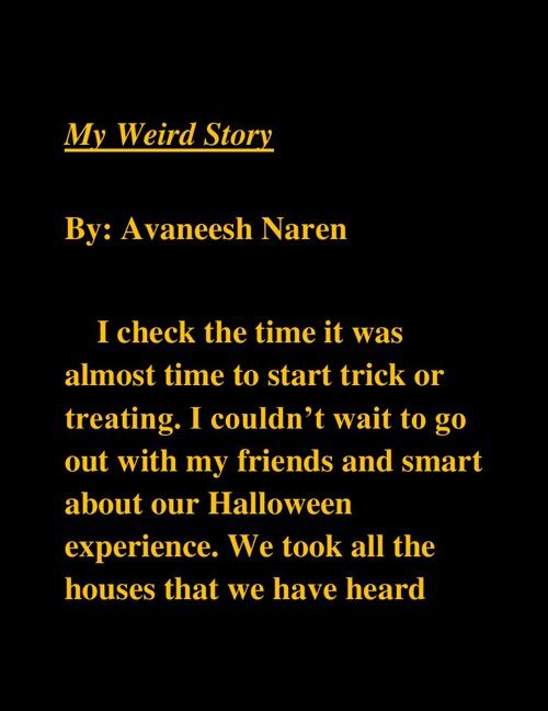 My Weird Story