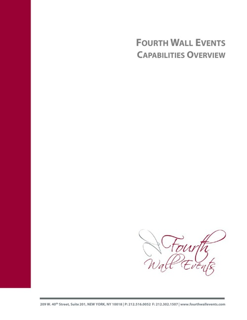 Fourth Wall Events Capabilities