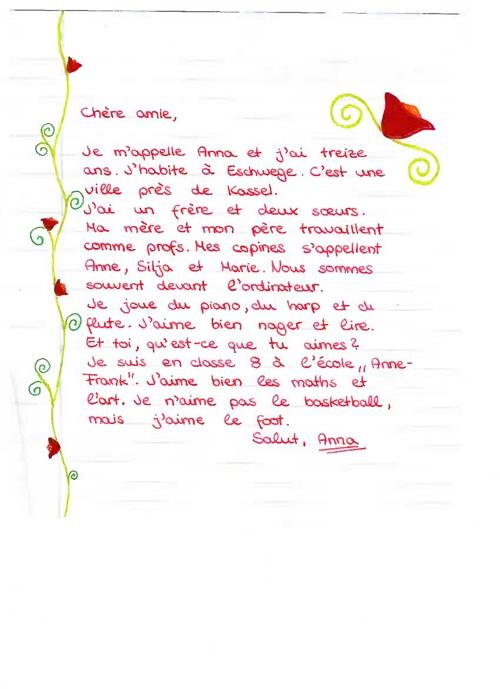 Lettres de présentation