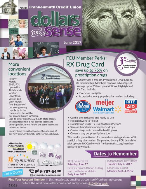 Frankenmuth Credit Union Dollars and Sense Newsletter | June