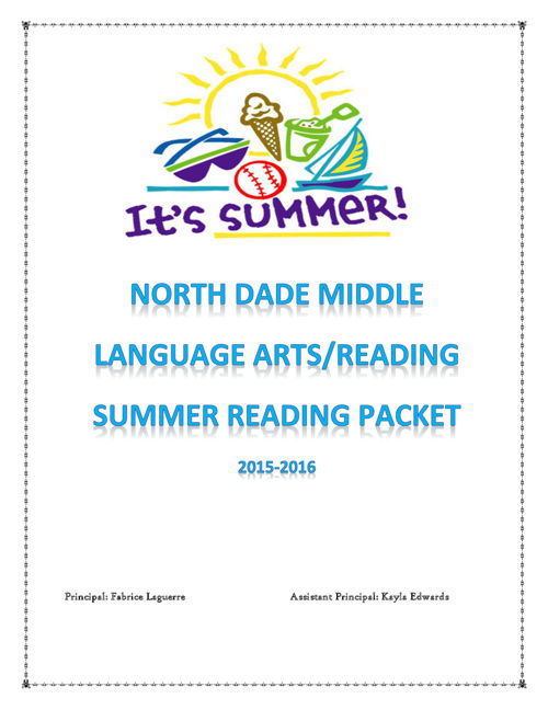 SUMMER READING NORTH DADE MIDDLE