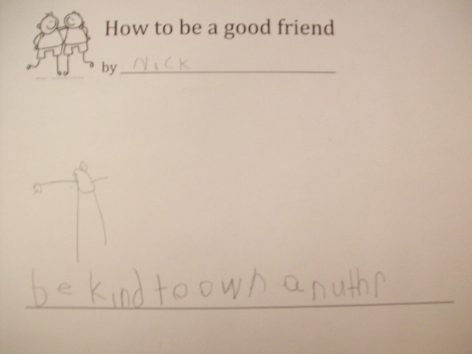 How to be a good friend by Mrs. Bracchi's class