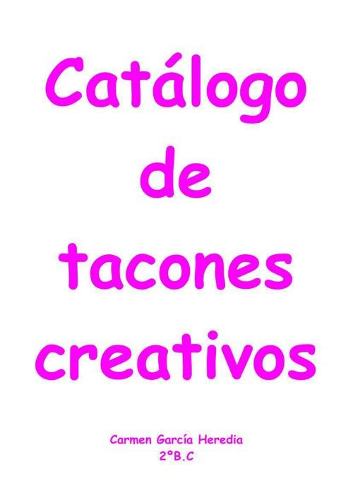 catalogo de Carmen García Heredia