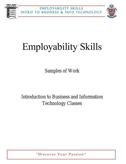 Employability Skills BIT Revised MAR