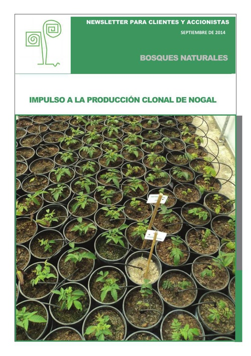 Newsletter Bosques Naturales septiembre 2014