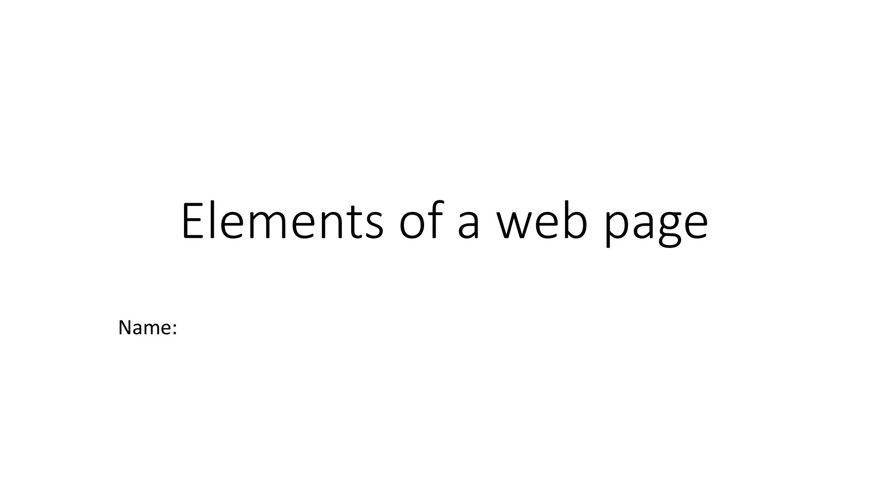 Elements of a web page