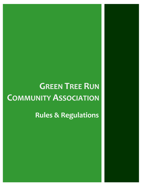GTR Rules & Regulations and Cover Page
