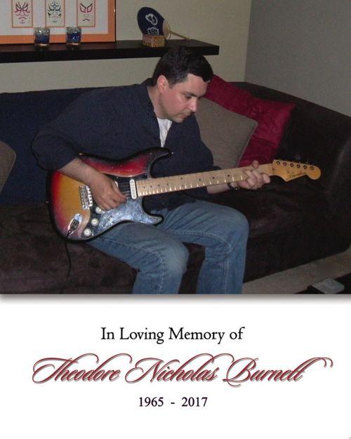 Memorial Card for Nick Burnett