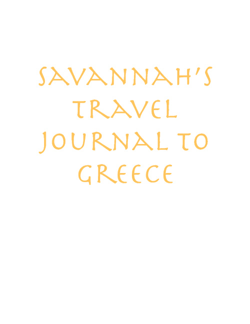 Travel Journal to Greece