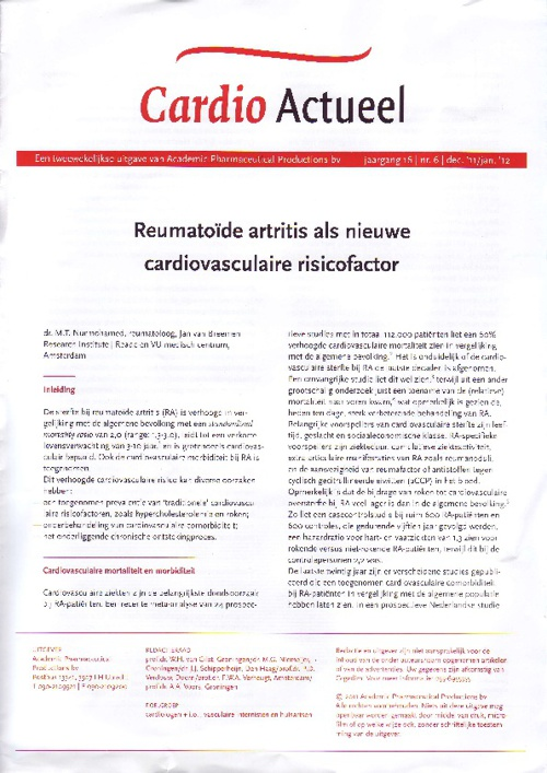 Cardio Actueel jaargang 16, nr.6 dec '11/jan. '12
