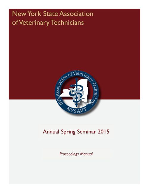 NYSAVT 2015 Annual Spring Seminar Proceedings