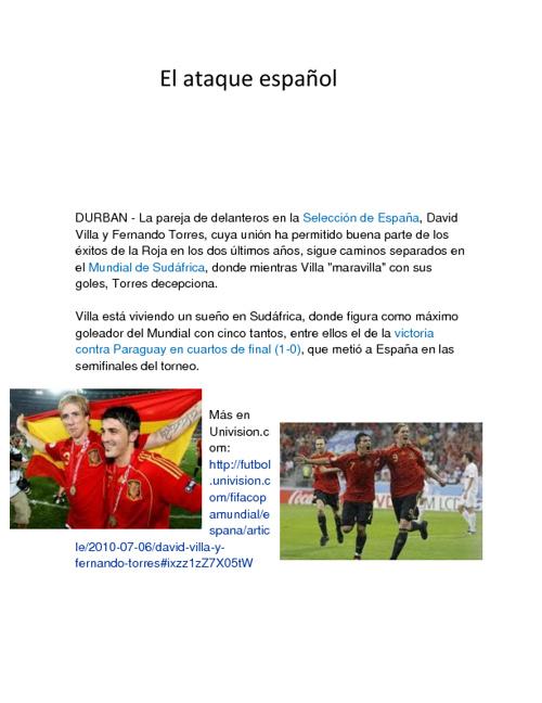 el ataque español