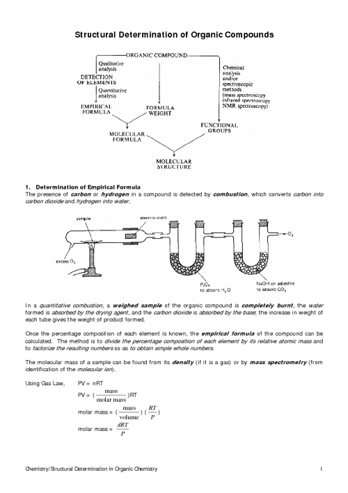 HKAL Section 12.8 (Structure Determination of Organic Compounds)