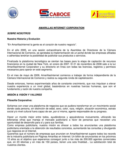 Amarillas Internet Corporation