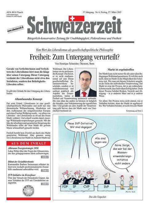 Schweizerzeit Nr. 06 vom 27.03.2015