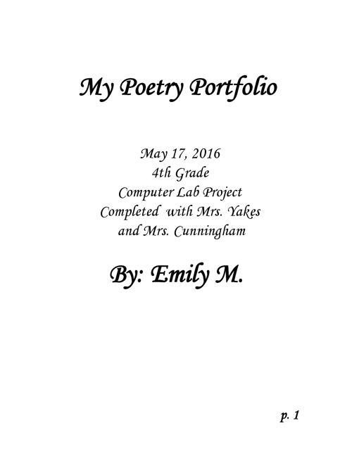 Poetry-Portfolio-Emily M.
