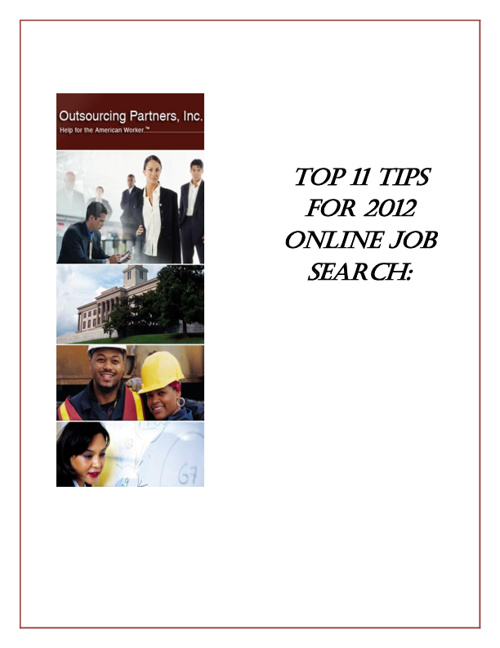 Mini Guide: 11 Tips For 2012 Online Job Search