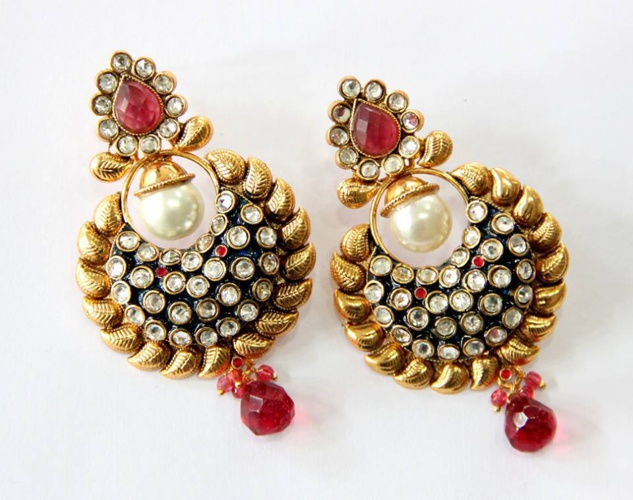 Kundan/ Meena Earings- Part 4