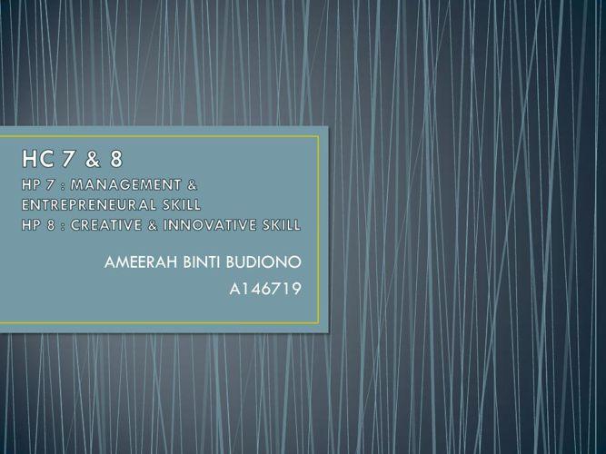 HC7&8 AMEERAH BUDIONO A146719