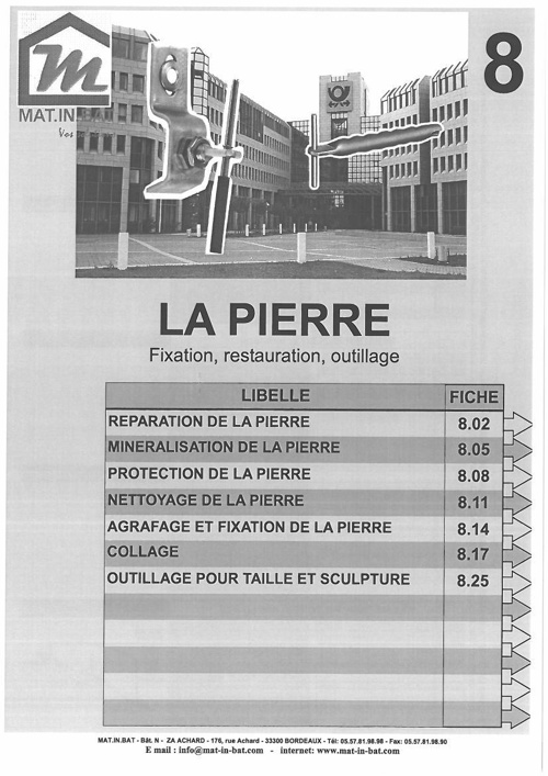 Catalogue La pierre