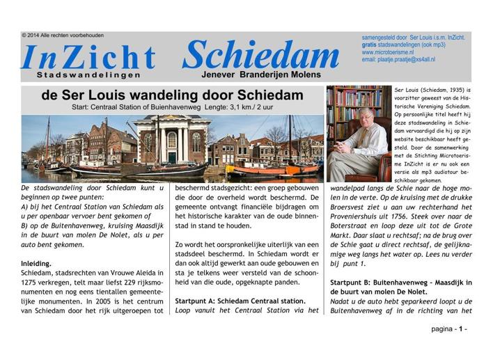Stadswandeling Schiedam