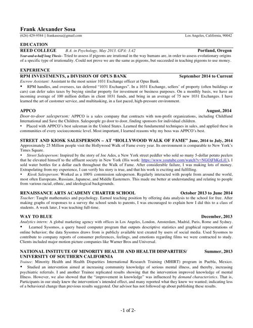 Frank_Reed_updated resume_ 10_3_15