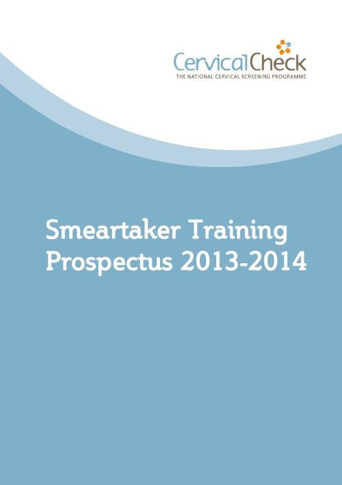 Smeartaker training prospectus 2013/2014