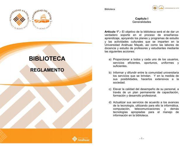 Copy of Reglamento Biblioteca Anáhuac