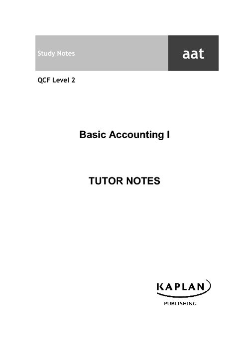 Kaplan Tutor Notes