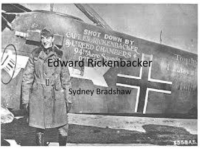 Edward Rickenbacker powerpoint