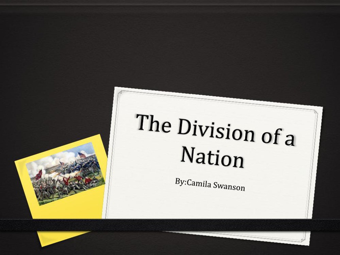 The Division of a Nation picturebook