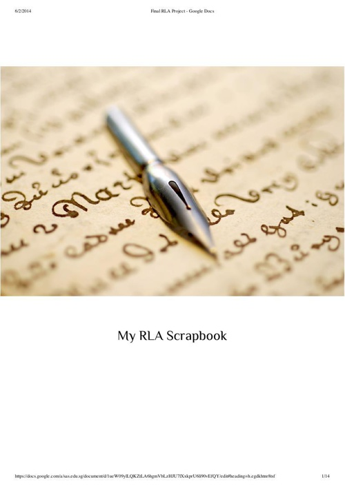 My RLA Scrapbook