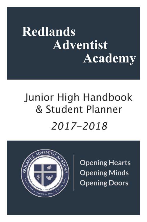 Redlands Adventist Academy Middle School Planner