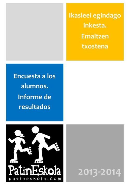PatinEskola. Informe encuesta 2013-2014