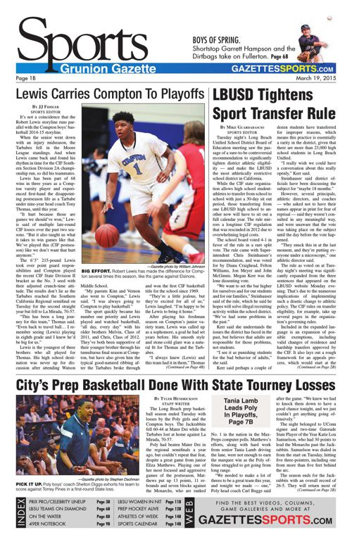 Gazette Sports | March 19, 2015
