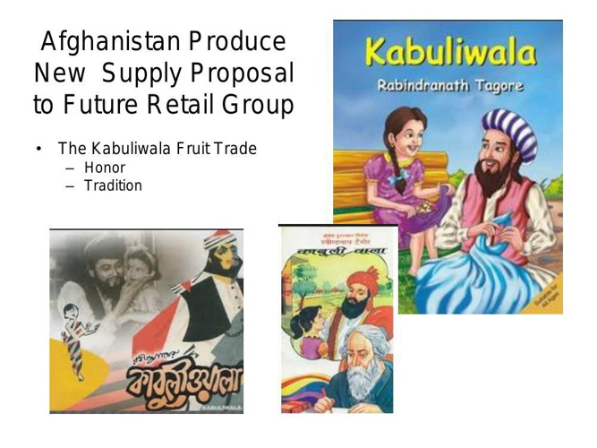 Afghan Produce Propectus for Future Group