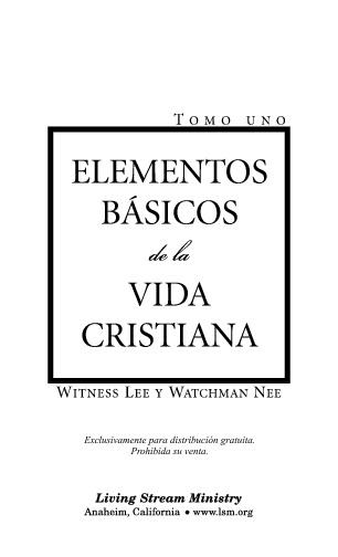 Elementos básicos de la vida cristiana