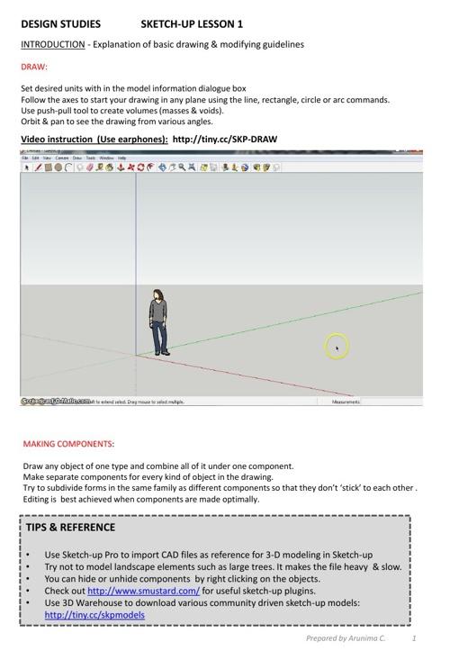 E-Lesson : Sketch Up Basics