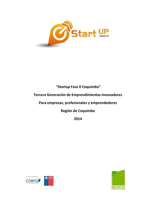 Bases Llamado Tercera Generación Start Up Coquimbo Codesser